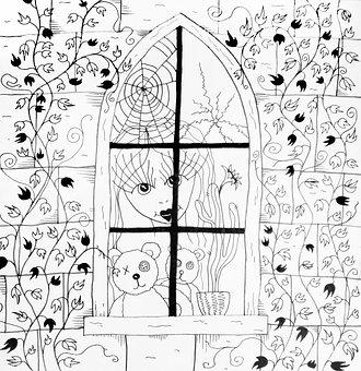 Fantasy, Gothic, Illustration, For Books, Mystic, Woman