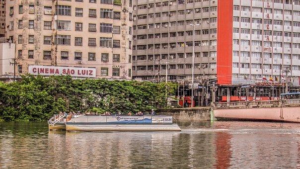 Recife, Pernambuco, Boat, River, Afternoon, Landscape