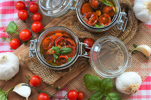 Tomatoes, Oil, Herbs, Cook, Dry, Oven, Olive Oil