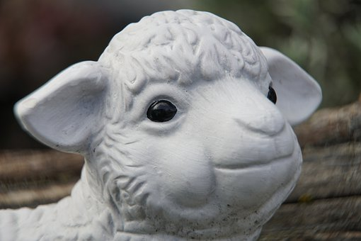 Easter, Lamb, Sheep, Friendly, Decoration, Garden, Head