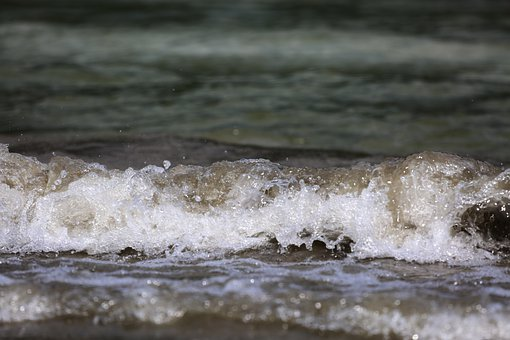 Water, Wave, Beach, Blue, Summer, Inject