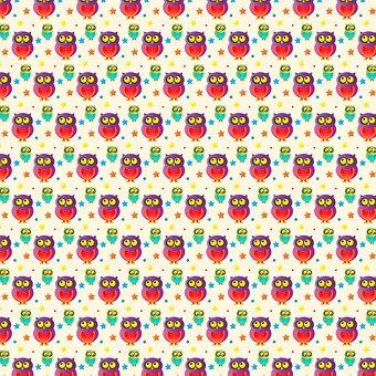 Owl Pattern, Owl Digital Paper, Owls, Pattern, Baby