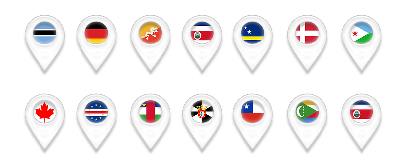 Map, Maps, Geolocation, Pin, Botswana, Germany, Bhutan