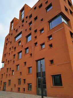 Building, Brick, Red, Architecture