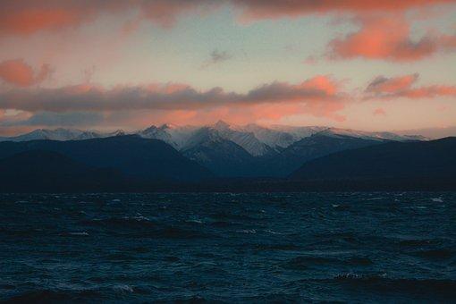 Dawn, Lake, Bariloche, Argentina, Clouds