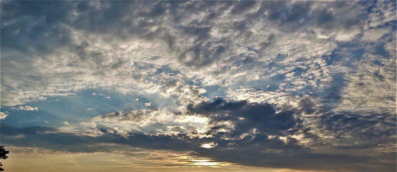 Clouds, Morning, Sunrise, Sun, Silver, Nature, Dawn