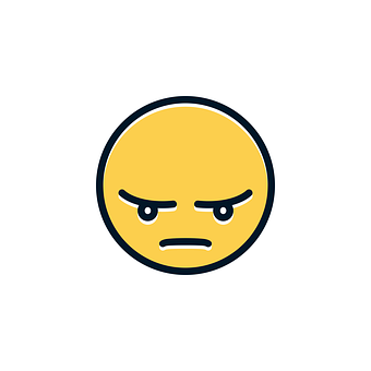 Angry, Nervous, Icon, Emotions, Emoticon