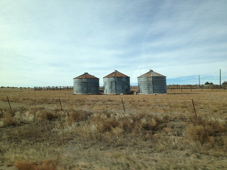 Grain Silos, Country, Agriculture, Grain, Rural, Silo