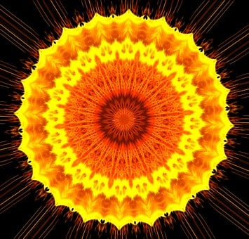 Kaleidoscope, Mandala, Sun, Rays, Pattern, Design