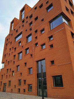 Building, Brick, Red, Architecture, Masonry, City