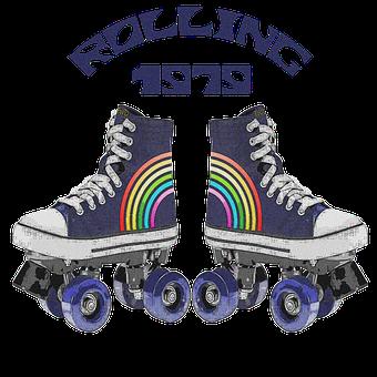 Retro, Skates, Vintage, Skating, Sport