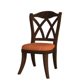 Pretty Chair, Wooden, Fabric, 3D, Render