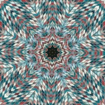 Kaleidoscopes, Mosaics, Circular Forms, Abstract