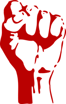 Fist, Power, Fight, Aggression, Red, Left