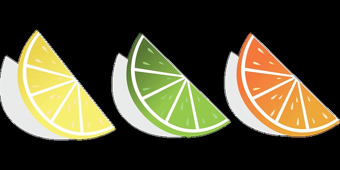 Citrus, Lemon, Lime, Grapefruit, Fruit, Slices, Summer