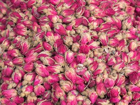 Rose Bud, Rose Flower, Dried, Spice, Market