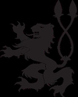 Lion, Heraldic Animal, Double Tail, Asian, Power