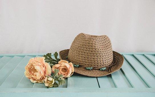 Hat, Flowers, Nature, Joy, Spring, Summer, Smile