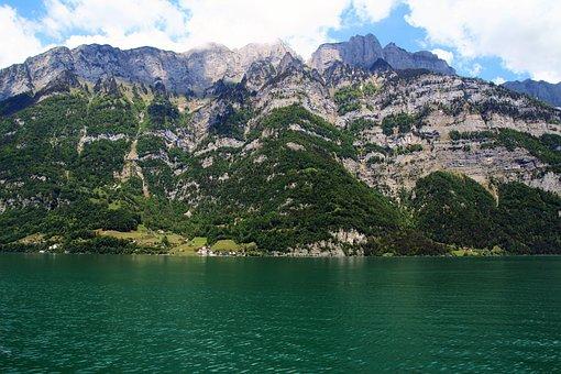Bergsee, Alpine, Switzerland, Mountains