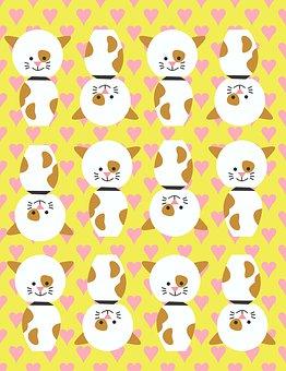 Dog, Puppy, Kids, Pattern, Children, Fun