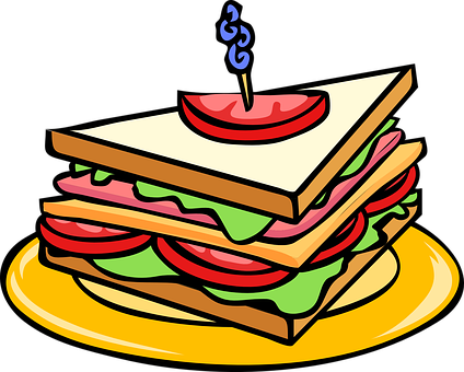 Club Sandwich, Triangle, Food, Snack, Bread, Meal