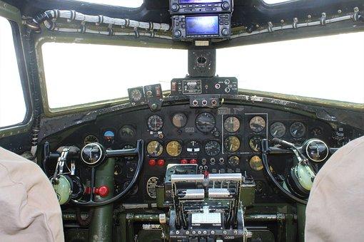 Cockpit, Yoke, Military, Bomber, Pilot, Vintage, Wwii