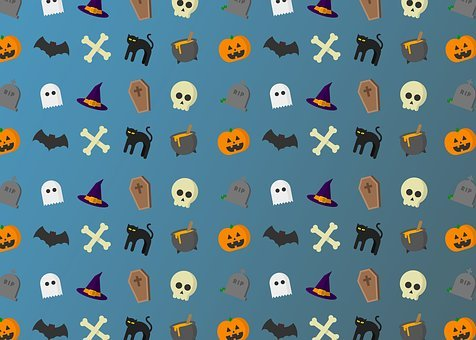 Halloween, Cats, Pumpkin, Pattern, Bat, Spooky, Holiday