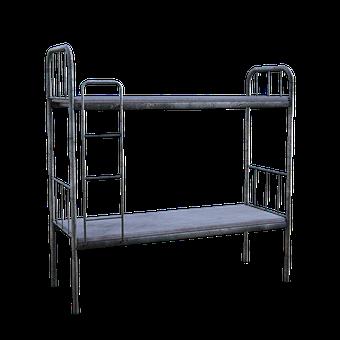 Bunkbed, Metal, Mattress, Ladder, Sleep, Relax, Indoors