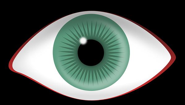 Eye, Green, Red-rimmed, Iris, Pupil