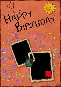 Birthday, Background, Birthday Card, Frame, Red