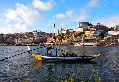 Port, Portugal, Douro, Calem, Boat, City, River
