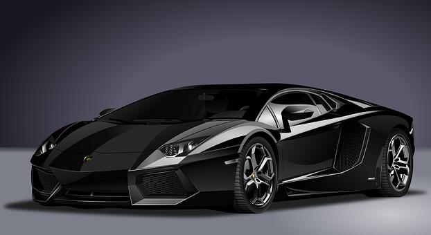 Car, Lamborghini, Realistic, Sports, Black, Automobile