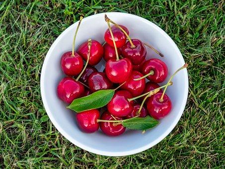 Cherries, Shell, Rush, Vitamins, Juicy, Fruits, Eat