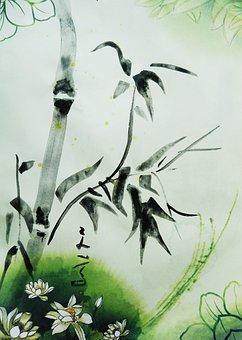 Bamboo, Chinese Painting, China, Figure