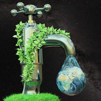 Environment, Nature, Green, Water, Ecology, Faucet