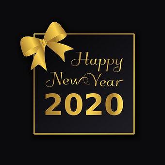 Postal, Gingham, Congratulation, 2020, Happy New Year