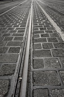 Paving Stones, Road, Gleise, Surface