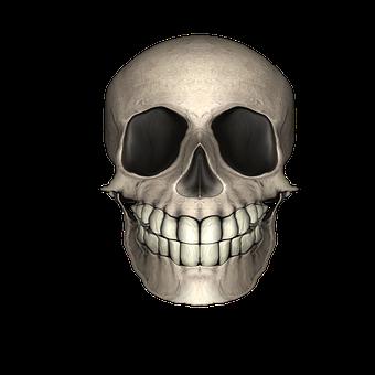 Skull, Gothic, Grinning, Friendly
