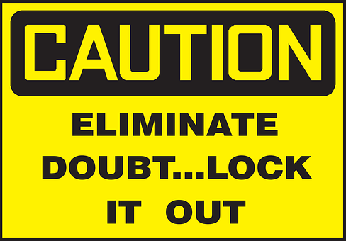 Lock, Caution, Eliminate, Inspiration, Doubt, Inspired