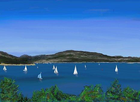 Sailing Boat, Lake, Sailing School, Sailing Mast