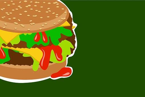 Burger, Meat, Sandwich, Bread, Junk Food, Fast Food