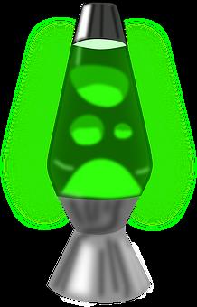 Lava, Lamp, 1960s, 1990s, Green, Silver, Decoration