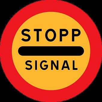 Stop, Wait, Signal, Halt, Road Sign
