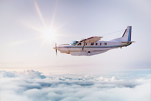 Aircraft, Clouds, Above The Clouds, Sky, Sun, Freedom
