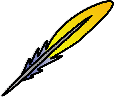 Feather, Quill, Writing, Yellow, Pen, Antique