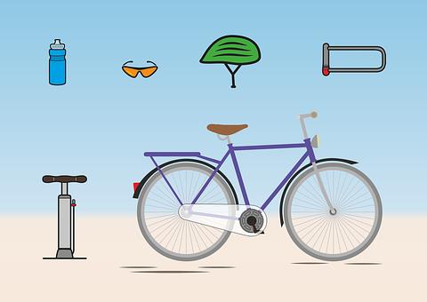 Bike, Accessories, Helm, Bottle, Castle, Sunglasses