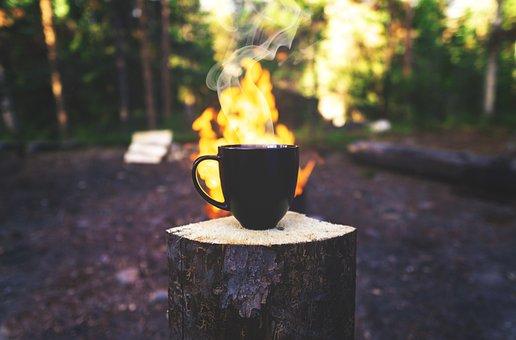 Coffee, Outdoors, Mug, Roasted, Fire, Bonfire, Fresh