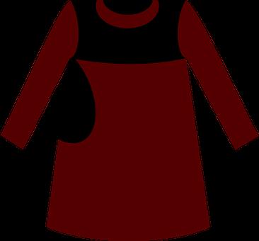 Red Blouse, Dress, Muslim, Fashion