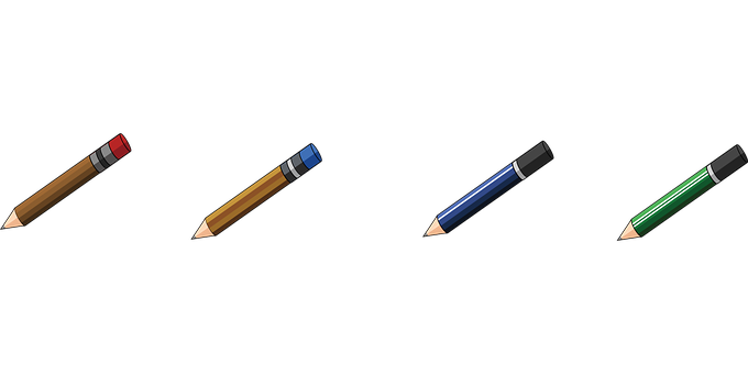 Pencil, Stationary, Study, School, Design, Education
