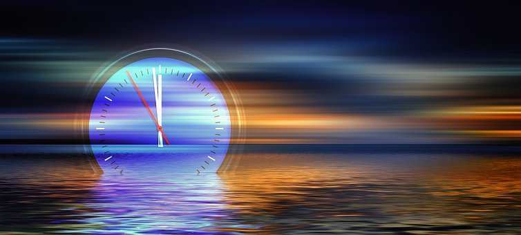 Sea, Sunset, The Eleventh Hour, Clock